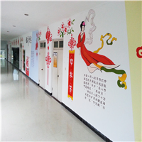 三门青少年宫墙绘作品