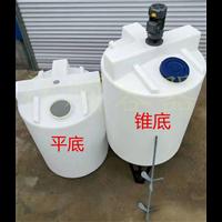 一千升塑料搅拌桶化工锥底平底调配罐稀释拌料白色1吨胶桶