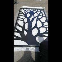 铝材隔断|铝雕镂空屏风