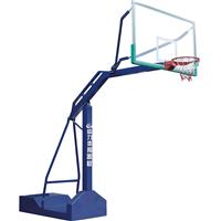 广州市海珠中学移动式篮球架拼接安装 给力体育荣誉出品
