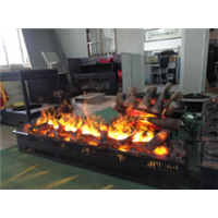 高档燃木真火壁炉设计