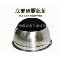 304不锈钢沙拉碗防滑硅胶底