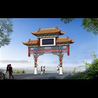 北京仿古門頭彩繪施工