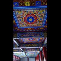 北京古建筑天花油漆彩繪制作