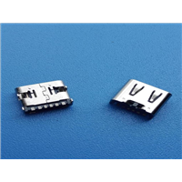 TYPE-C卧贴90度四脚插板AF带定位柱6PN