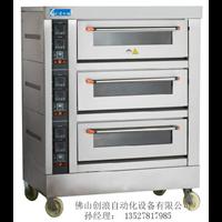 三層六盤烘焙電烤爐-大容量大型蛋糕電烤爐