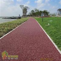 彩色胶筑石地坪工艺l透气透水豪华型生态路面