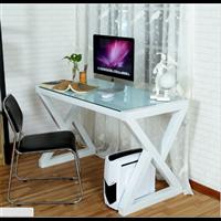 简约现代电脑桌台式家用 钢化玻璃办公桌子 写字台学习桌