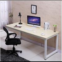现代简约书房单人实木电脑桌 办公室休闲职员双人办公桌椅写字台