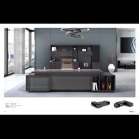 66M-0130 紫檀+铁灰 老板桌 办公桌