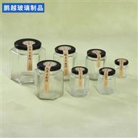 六棱蜂蜜瓶铁盖玻璃瓶密封罐