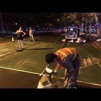 西安公交车道陶瓷颗粒防滑路面