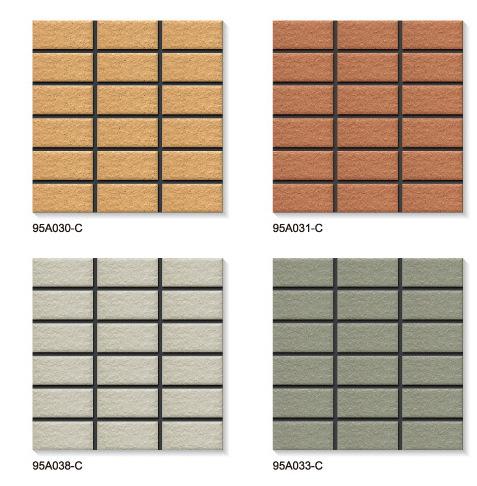 厂家生产 45*95mm纸皮砖 优等通体亚光外墙纸皮彩玛瓷砖