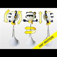 香港佳玛娱乐9DVR一体机设 虚拟现实升降式自助影院熊猫头