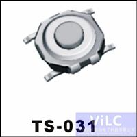 供应轻触开关TS-031/防水按键 4P贴片