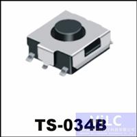 180度直按-轻触开关TS-034B/铁壳镀镍