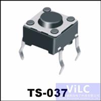 4PIN直插/TS-037 环保型轻触开关 圆柄直按