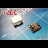 MICRO 5P卷边母座-单面焊线 不锈钢壳 带白色护套