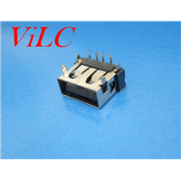 短体10.6-90度A母 四圆脚插件 一字胶芯 针加长 直边 黑胶