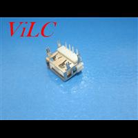 AF90度-四鱼叉脚DIP 短体10.0 一字白胶 吸塑盘装