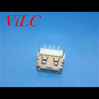 AF90度短体10.0 USB母座 四脚鱼叉 直边 7.5H