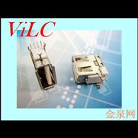 侧插短体AF-卷边USB母座 中间Y型脚 侧立式A母