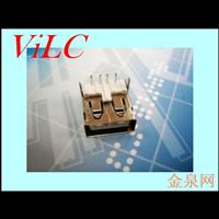 90度插件式USB母座 AF直边 T字型胶芯 铁壳