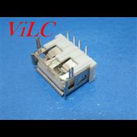 短体10.0-卷边USB母座 前两脚DIP 山字白胶 盘装
