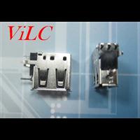 USB侧插短体10.0 AF90度 二弯脚+Y型脚插件 卷边A母