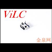 MICRO5P母座 四脚加长DIP 卷边无焊点 有柱1.0