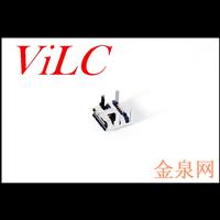供应MICRO 5P母座 四脚卷边 无焊点 有柱1.0 编带