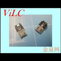 前五后五0双面焊线式MICRO公头 超薄3.0 有弹片 散装MK插头