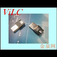 超溥MICRO 5P公头 胶芯加长=前五后五焊线 迈酷洛连接器
