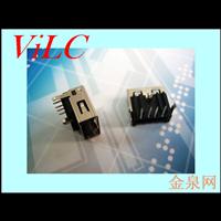 AF90度三脚DIP/反向胶芯 加高型USB2.0母座