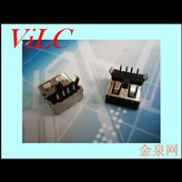 AF90度内弯二脚DIP T型黑胶 带后盖 直边USB母座