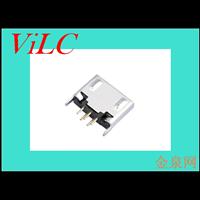 180度插件式MICRO 5P母座-直边平口迈酷洛接口 安卓尾插