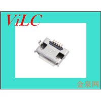 MICRO USB连接器 5P反向插板母座-外DIP8.2-卷边 卷装