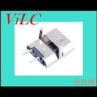 MICRO 2P母座-二脚轻触-2P后贴 专充电安卓尾插