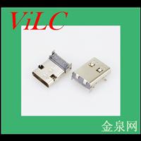 加长11.95-前插后贴TYPE C母座24P-有柱-长体USB3.1