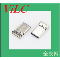 供应沉板双排贴TYPE C公头-超薄USB3.1插头-编带包装