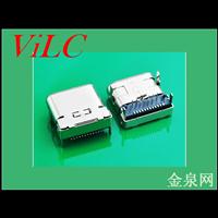 短体8.5mm-板上插板TYPE C母座插件贴片 USB3.1座子