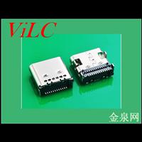 TYPE 3.1C母座-板上插件式-双排24p贴针 环保 大电流