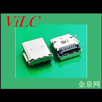 L=9.6-板上垫高2.53TYPE 3.1C母座/有柱 编带包装