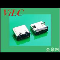 四脚插件-板上TYPE 3.1C 16P母座-单排针 两定位柱 编带