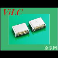 24P夹板SMT-超短体6.8-3.1USB TYPE C母座 板厚0.8 编带