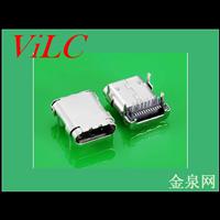 USB 3.1 C TYPE母头板上10.8MM 外壳后盖掏料 有柱