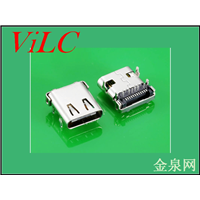 板上USB 3.1 TYPE C母座-四脚插件 有柱 L=9.8编带包装