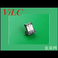 直插式TYPE C母座/24P双排针SMT-立式10.5H-带胶塞 编带