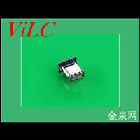 立式24P双排SMT-180度TYPE C母座/9.3H 编带包装