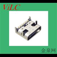 深圳供应四脚插件-6P贴板-单充电TYPE C母座 编带包装